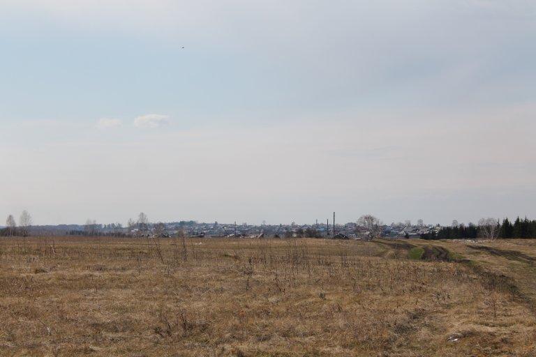 Вид на город с полей