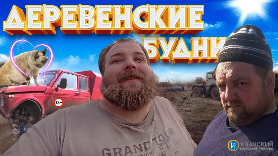 Свинья Дашка будет жить/Трактор Т-150 запуск, после зимней спячки