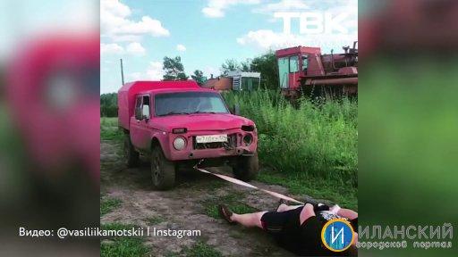 Чемпион по пощечинам Василий «Пельмень» готовится к турниру