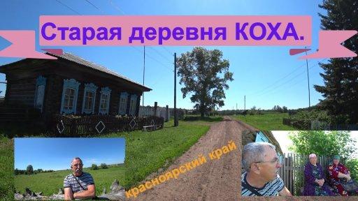 Старая деревня Коха иланского района Красноярского края.