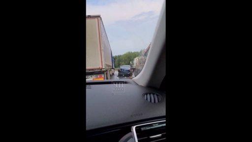 Трасса Канск-Иланский, ДТП лоб в лоб, 27 июня 2020 г.